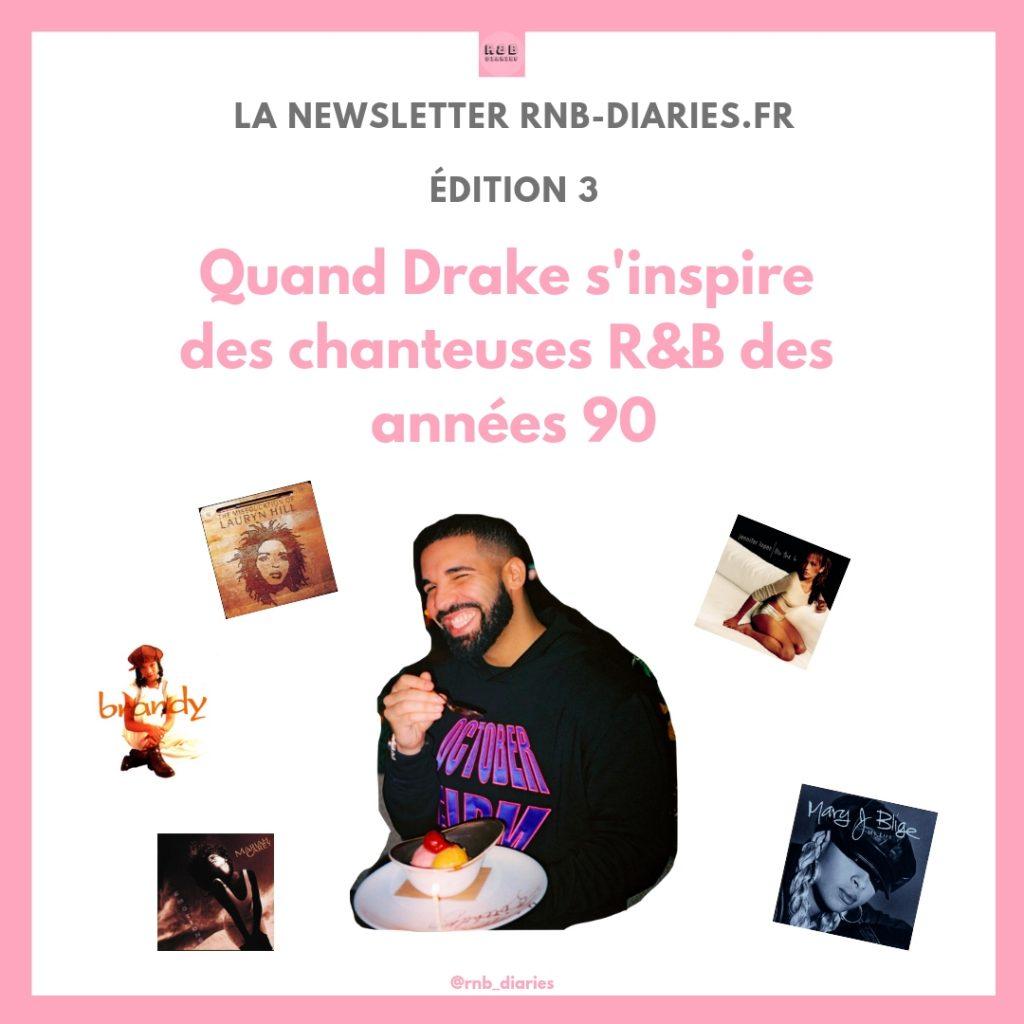 Drake influences R&B Musique et Chanson RNB en France